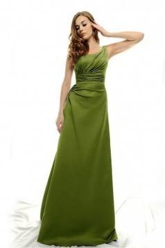 Asymmetrical neckline satin Evening Dress EWD0125 - Adollia makes the dresses fit you! | dresses | Scoop.it