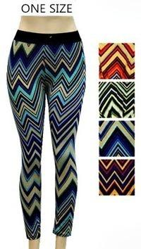 Womens Chevron Printed Leggings - $3.25 each | Wholesale Clothing Online | Scoop.it