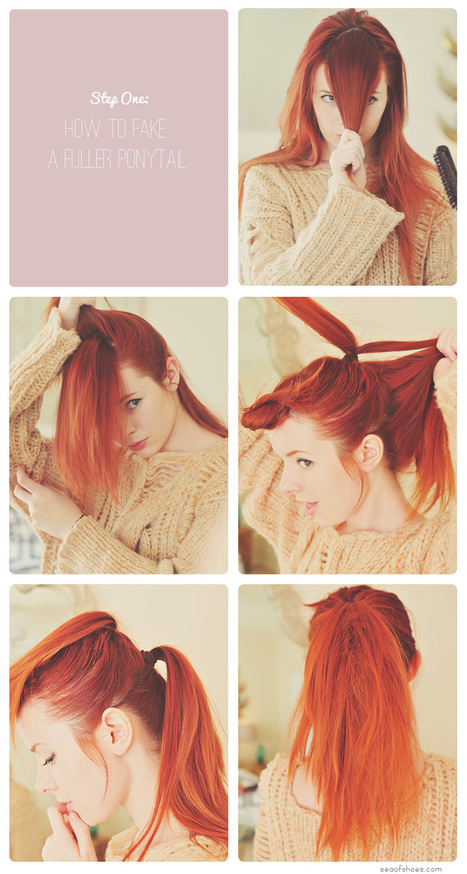 Sea of Shoes: Hair Tutorial: The Pin-Up Ponytail | Hair styles mk | Scoop.it