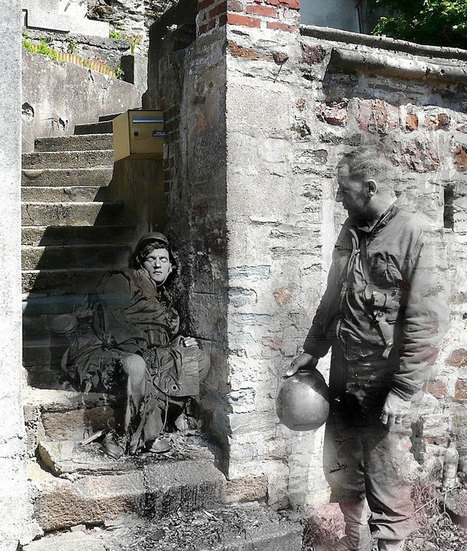 Ghosts of War: WWII Photos Superimposed on to Modern Street Scenes | 2ª Guerra Mundial- Sofía Sabio. | Scoop.it