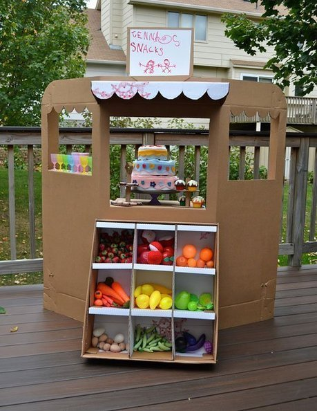 Green Grocer Shop from Cardboard   Ikat Bag | Parent Autrement à Tahiti | Scoop.it