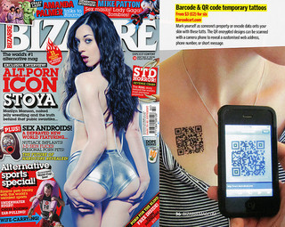 QR Code Tattoos in Bizarre Magazine | Strange days indeed... | Scoop.it
