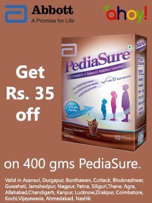 Rs.35/- off on 400gms.Pack Pediasure | Aman Agarwal | Scoop.it