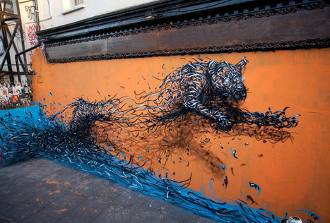 New Murals by DALeast Seem to Explode with Energy | Colossal | CRAW | Scoop.it