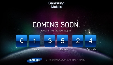 Samsung Launches the next Galaxy smartphone teaser video.   Mobile Marketing   News Updates   Scoop.it