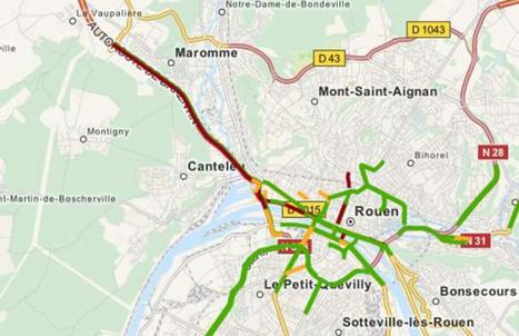 Circulation. Gros ralentissement sur l'A150 jusqu'au pont Flaubert | Armada de Rouen 2013 | Scoop.it