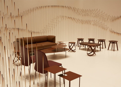 Nendo creates chocolatey waves for Maison&Objet installation | Inspired By Design | Scoop.it