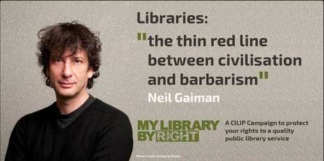 "Neil Gaiman Backs ""My Library By Right"" Campaign to Save Libraries from Cuts 