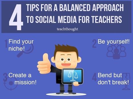 A Balanced Approach To Social Media For Teachers | Edtech PK-12 | Scoop.it