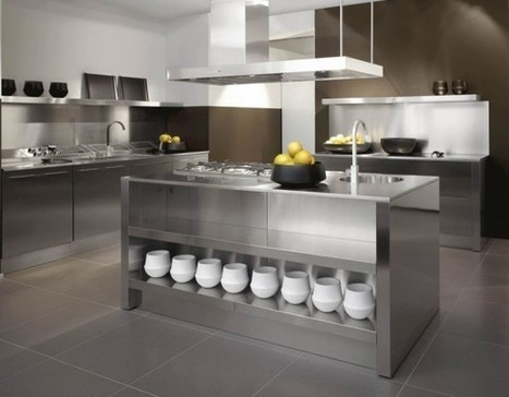 Stainless Steel Kitchen Designs | Gawe Omah | Kitchens | Scoop.it