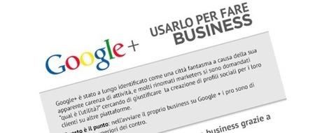 [Infografica]: Perché Google+ serve per il Business | Socialmediamkt | Scoop.it