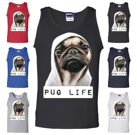 Pug Life Dope Thug Life Dog Parody Hipster Funny Tank Top   Online Shopping   Scoop.it