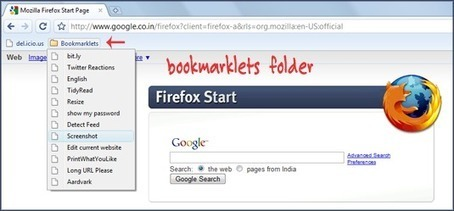 How to Efficiently Manage Your Collection of Bookmarklets | Techy Stuff | Scoop.it