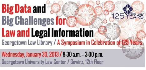 Big Data Symposium Schedule — Georgetown Law | Library Collaboration | Scoop.it