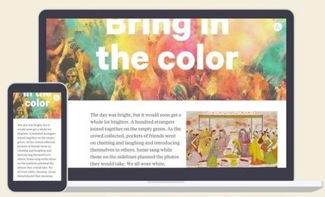 Atavist: una nova opció per crear històries multimèdia amb mapes, línies de temps, imatge i vídeo, etc. | Recursos i eines TIC per a l'educació | Scoop.it