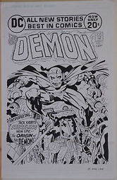 "Original art, Jack Kirby DEMON #1 Cover Recreation, 11x17, more art in store | Jack ""King"" Kirby 