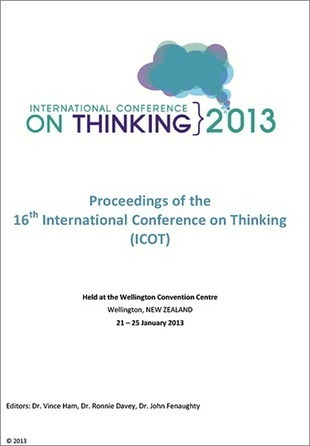 The 16th International Conference on Thinking | ICOT13 » Held in Wellington, New Zealand | January 21-25th 2013 » Conference proceedings | Professional learning | Scoop.it
