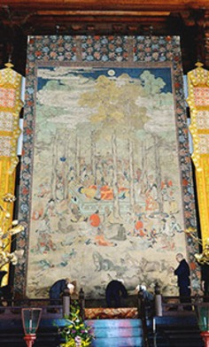 Famous scroll depicting death of Buddha on display at Kyoto temple | The Asahi Shimbun | Kiosque du monde : Asie | Scoop.it