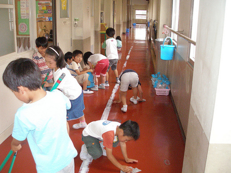 Πώς μαθαίνουν οι Ιάπωνες μαθητές να σέβονται το σχολείο τους | omnia mea mecum fero | Scoop.it