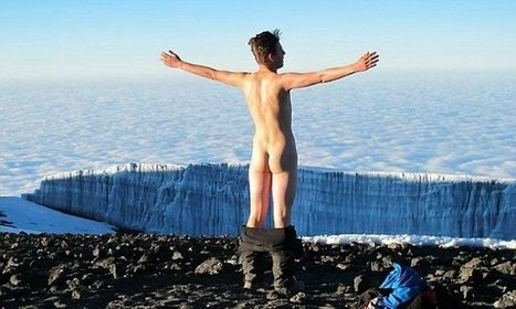 Student Ben Boleyn strips naked and streaks in -12C temperatures after scaling ... - Daily Mail | Climbing Kilimanjaro | Scoop.it