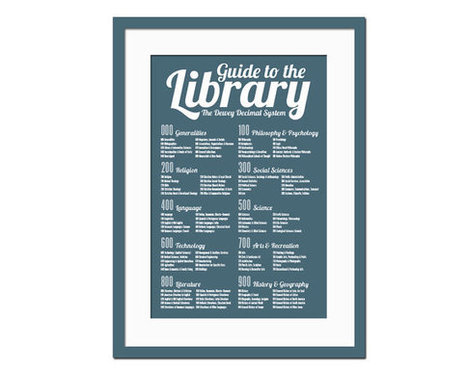 Dewey Decimal System - Art Print  - Library Poster - Poster for Schools - Book Lover - Librarian Gift - Typography Poster - 12 x 18 Wall Art | Classifications and ordering | Scoop.it