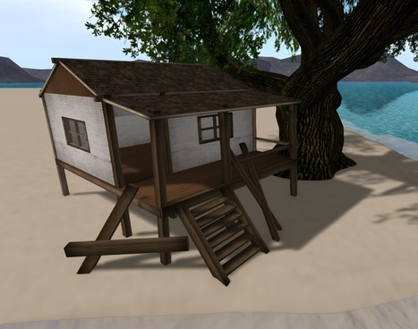 5 Prims Old Beach Cottage 9L Promo by Ahmed   Second Life Freebies   Second Life Freebies   Scoop.it