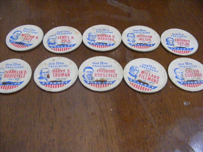10 old president Milk caps | Antiques & Vintage Collectibles | Scoop.it