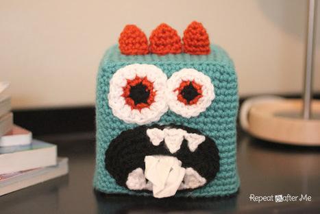 Repeat Crafter Me: Crochet Monster Kleenex Box Cover   PKC Crochet   Scoop.it