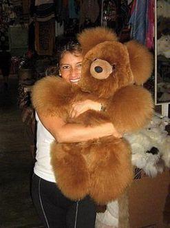 Brauner grosser Teddy Bär aus echtem Alpakafell, 75 cm | Produkte aus Peru | Scoop.it