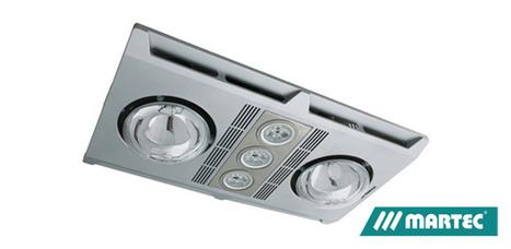 Martec 3 in 1 Bathroom Heater & exhaust Fan Silver 3 x LED Light 3 x Heat Lamp -  $179.9 Save: 21% off | Ceiling Fans Lights | Scoop.it
