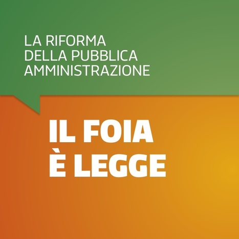 Il FOIA  è legge in Italia | Fidélitas | Scoop.it