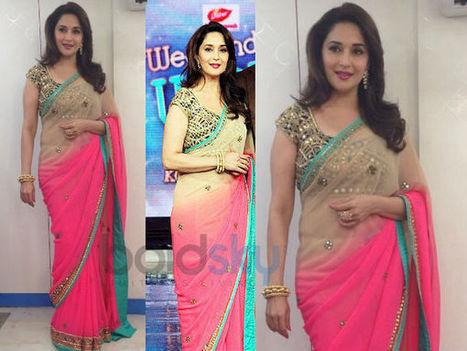 Madhuri – Again Arpita Mehta Saree | Jomso | indian ethnic wear | Scoop.it
