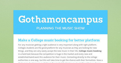 Gothamoncampus | Entertainments Agency | Scoop.it