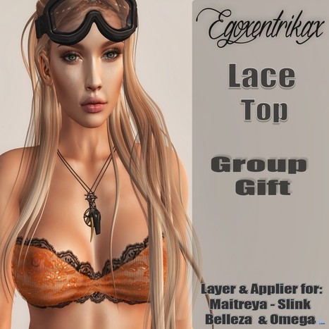 Lace Top with Appliers November 2016 Group Gift by Egoxentrikax | Teleport Hub - Second Life Freebies | Second Life Freebies | Scoop.it