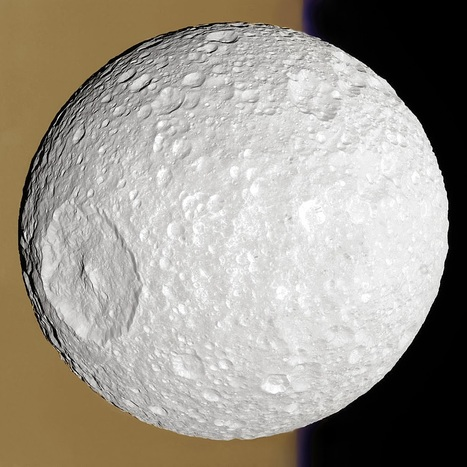 A devastating scar: Mimas, seventh moon of Saturn | Amazing Science | Scoop.it