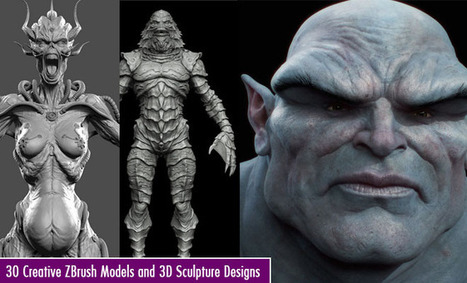 30 Creative ZBrush Models and 3D Sculpture Designs for your inspiration | Machinimania | Scoop.it