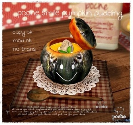 Smile Pumpkin Pudding Gift By Poche   Teleport Hub - Second Life Freebies   Second Life Freebies   Scoop.it