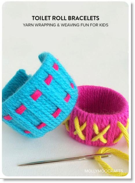 Make Yarn and Cardboard Tube Bracelets | Crafts To Make | Scoop.it
