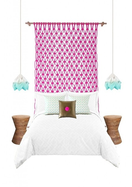 Macrame neon bedheads, for big kids and small | Fiber Arts | Scoop.it