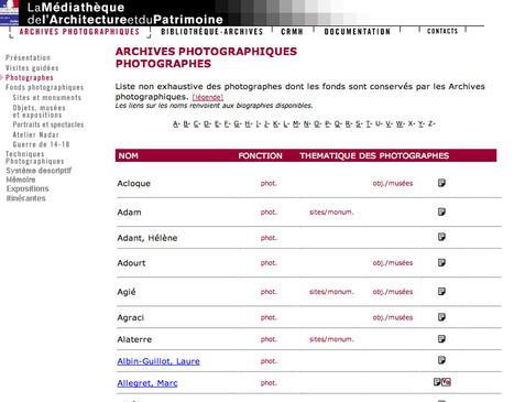 Médiathèque de l'architecture et du patrimoine. Archives photographiques   Base de données de données   Scoop.it