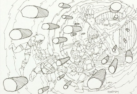 Turtles XTREME! Kevin Eastman's Concept Art For Unmade 4th Turtle Movie   Animation News   Scoop.it