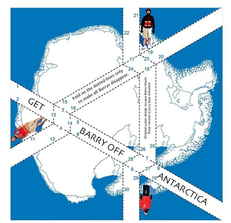The Get-Barry-Off-Antarctica Origami Puzzle | Made with (and of) Paper | Scoop.it