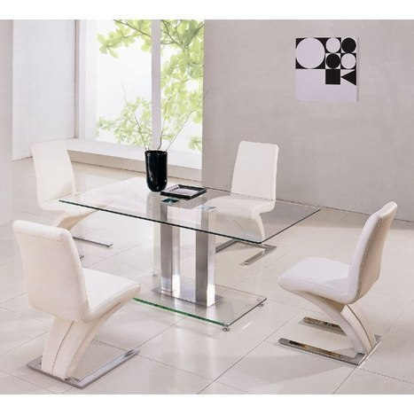 Glass Dining Sets, Glass Tables and Chairs, GlasstablesandChairs, Dining Room Sets, UK, | FurnitureInFashion | Scoop.it