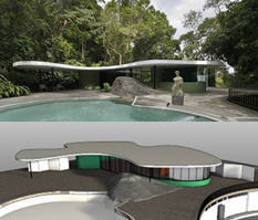 Casa das Canoas, by Oscar Niemeyer, modeled with VisualARQ for Rhino | VisualArq. Free-form 2D & 3D architecture modeling tools for Rhinoceros. | Scoop.it