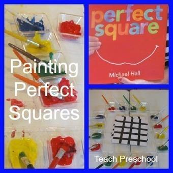 Painting up perfect squares (Piet Mondrian style)   Teach Preschool   Scoop.it