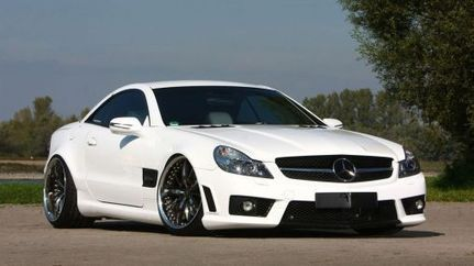White Tuned 2009 Mercedes-Benz SL-Class Roadster 1920x1080 HD - CamaroCarPlace | Automobiles | Scoop.it