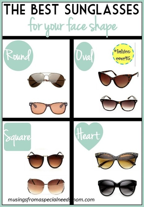{#fashionover45} Are You Wearing The Right Shaped Sunglasses | Marla Murasko's Musings From A Special Needs Mom | Style | Scoop.it