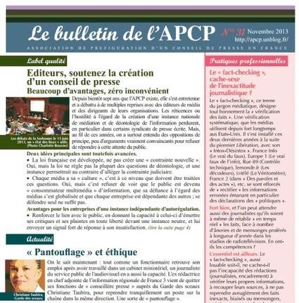 Déontologie de l´information : la Lettre n° 31 de l´APCP   Total journalism xornalismo total   Scoop.it