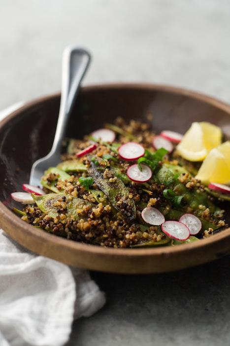 Spicy Snow Peas and Quinoa | Naturally Ella | Tastes and flavors | Scoop.it