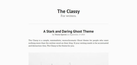20 Free Themes for Ghost | Tips & example webdesign | Scoop.it